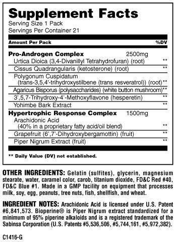 UNIVERSAL NUTRITION - ANIMAL TEST - 21 PAK
